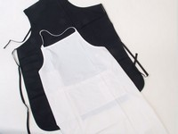 Nylon Apron with Tie Strap (white) Photo