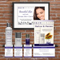 Skin Script Shelf Talkers Photo
